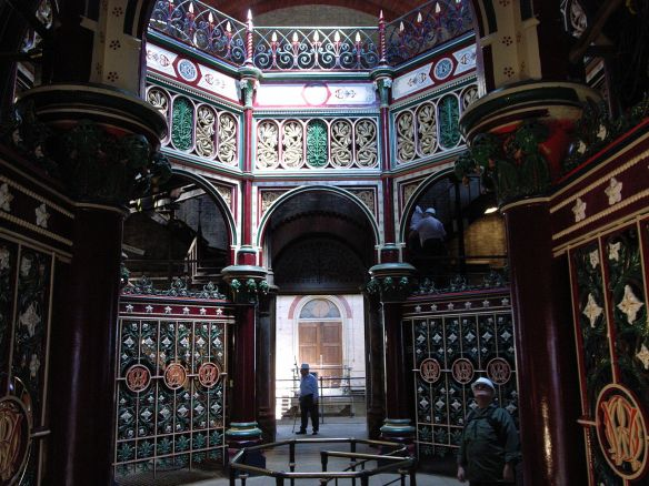 Crossness Pumping Station. Ornate Ironwork.  Source: Steve Cadman, flickr.com