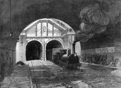 The Thames Tunnel in 1870, after being acquired by the East London Railway Company