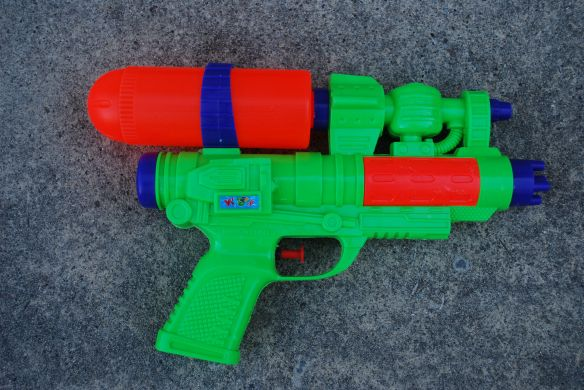 Water pistol before...