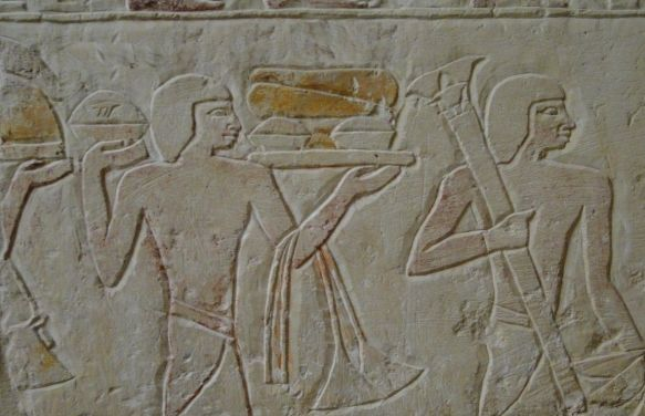 Ancient Egyptian bakers.  Are they making pie? Hard to tell. (Source: http://www.instructables.com/id/Pie-Pi-in-the-Age-of-the-Pharaohs/)