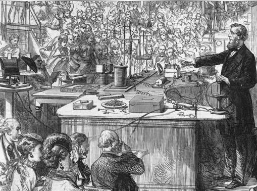 Tyndall presenting one of the Royal Institution's Christmas Lectures.