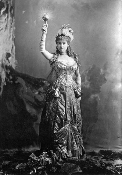 Mrs. Vanderbilt and her Electric Dress